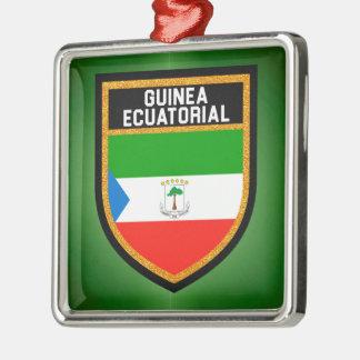ギニーのEcuatorialの旗 メタルオーナメント