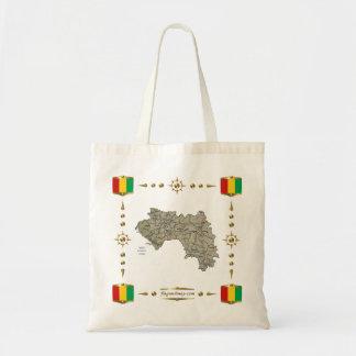 ギニーコナクリの地図 + 旗のバッグ トートバッグ