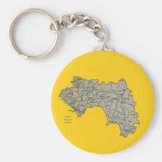 ギニーコナクリの地図Keychain キーホルダー