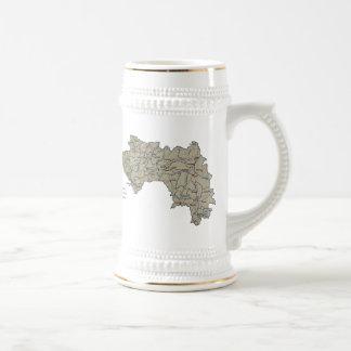ギニーコナクリの旗の~の地図のマグ ビールジョッキ