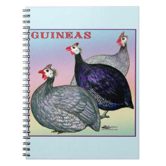 ギニー3の家禽 ノートブック