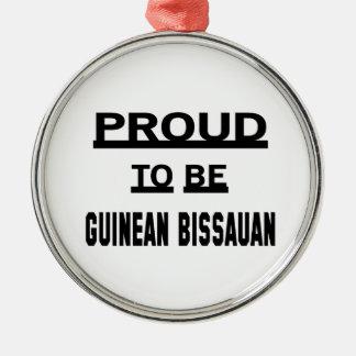 ギニーBissauanがあること誇りを持った メタルオーナメント
