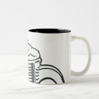 ギネスの白黒イラストレーション ツートーンマグカップ