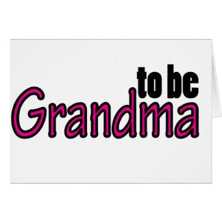 ギフトがある祖母 カード