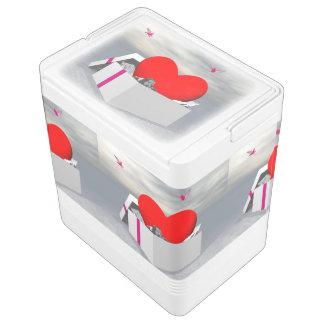 ギフトとして愛- 3Dは描写します IGLOOクーラーボックス