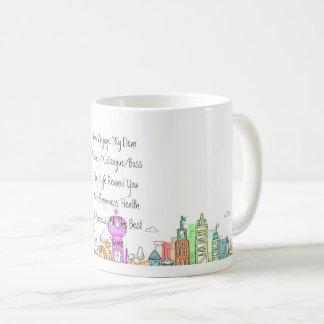 ギフトに名前入りな国都市移動を残します コーヒーマグカップ