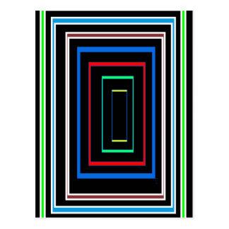 ギフトのおもしろいの装飾的なライングラフィックのカラフルな芸術 ポストカード