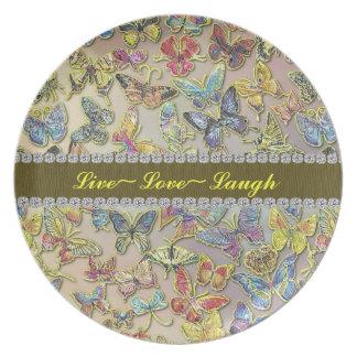ギフトのプレートの感動的な蝶コレクター プレート