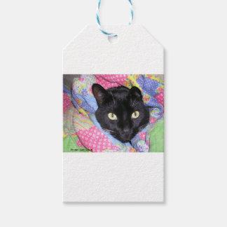 ギフトのラベル: 毛布で包まれたなおもしろいな猫 ギフトタグ