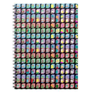 ギフトの多数のミニチュア抽象美術パターン ノートブック