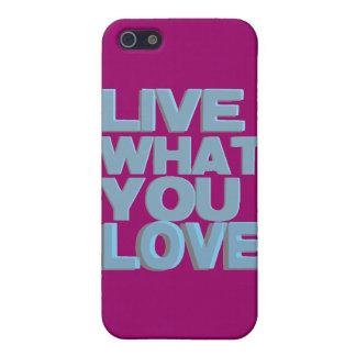 ギフトを愛するもの住んで下さい iPhone 5 CASE