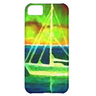 ギフトを航海するネオンヨットの薄暗がり30の海 iPhone5Cケース