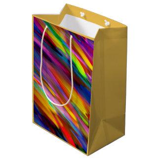 ギフトバッグのカラフルなデジタルに芸術のはねかけること ミディアムペーパーバッグ