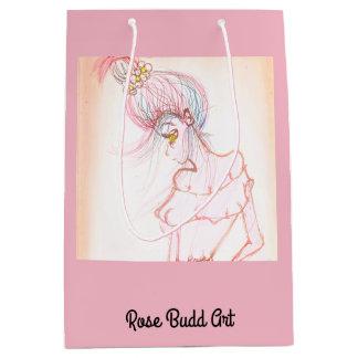 ギフトバッグ媒体のピンク ミディアムペーパーバッグ