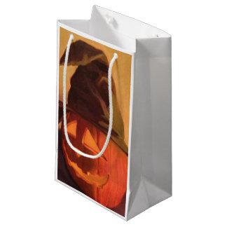 ギフトバッグ-ハロウィーンのカボチャのちょうちん スモールペーパーバッグ