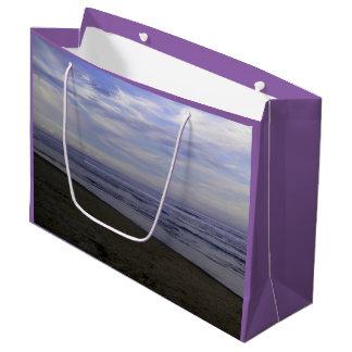 ギフトバッグ-ビーチの大きい写真 ラージペーパーバッグ