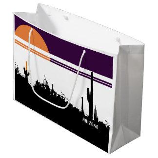 ギフトバッグ-大きいAZの郵便はがきのデザイン ラージペーパーバッグ