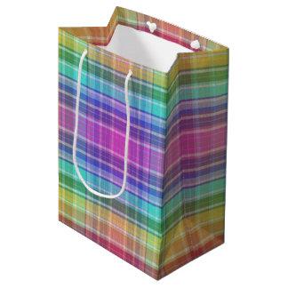 ギフトバッグ-虹マドラス ミディアムペーパーバッグ