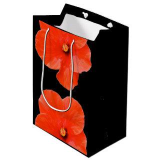 ギフトバッグ-雑色のハイビスカス ミディアムペーパーバッグ
