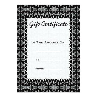 ギフト券の白黒の種族パターン カード