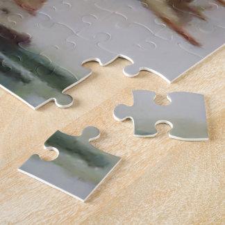 ギフト用の箱が付いているヨットの写真のパズル ジグソーパズル