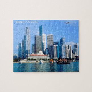 ギフト用の箱が付いている写真のパズルのためのシンガポールのイメージ ジグソーパズル