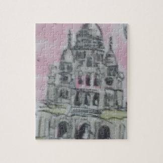 ギフト用の箱が付いている城の写真のパズル ジグソーパズル