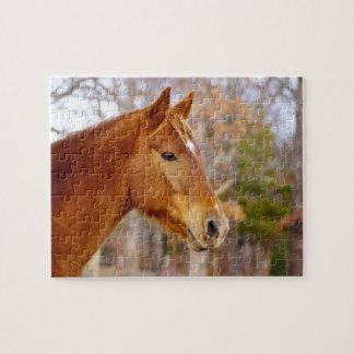 ギフト用の箱が付いている美しいクリの馬のパズル ジグソーパズル