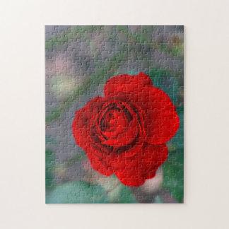 ギフト用の箱が付いている花の写真のパズル ジグソーパズル