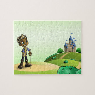"""ギフト用の箱が付いている""""Jamal王子"""" 8x10の写真のパズル ジグソーパズル"""
