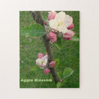 ギフト用の箱が付いているAppleの花写真のパズル ジグソーパズル