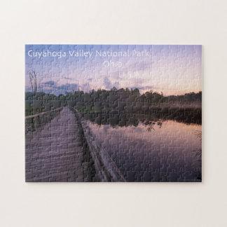 ギフト用の箱が付いているCuyahogaの谷のビーバーの沼地のパズル ジグソーパズル