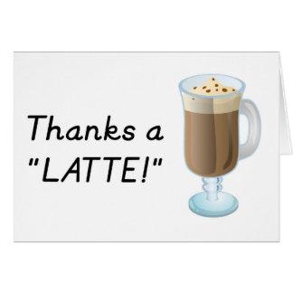 ギフト-感謝ラテありがとう カード