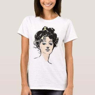 ギブソン・ガールの頭部のデザイン Tシャツ