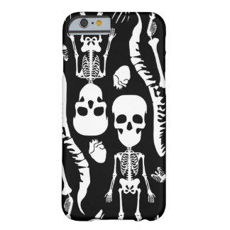 ギャグのスカルの頭部のiPhone6ケース-黒 Barely There iPhone 6 ケース