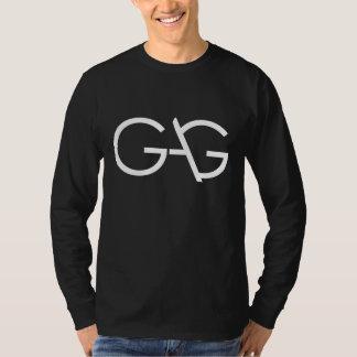 ギャグのロゴの長袖のティー-暗闇 Tシャツ
