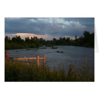ギャラティンの川の夕べ カード