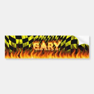 ギャリーの実質火および炎のバンパーステッカーは設計します バンパーステッカー