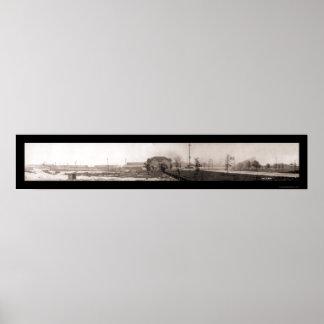 ギャリーインディアナの鋼鉄写真1910年 ポスター
