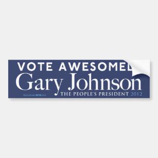 ギャリージョンソンの投票驚くばかりにバンパーステッカー バンパーステッカー