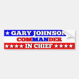 ギャリージョンソンの最高司令官バンパーステッカー バンパーステッカー