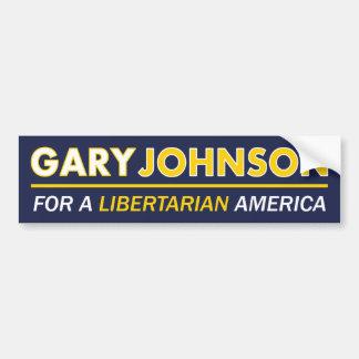 ギャリージョンソンの自由主義的なバンパーステッカー バンパーステッカー