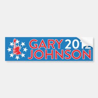 ギャリージョンソン2012年 バンパーステッカー