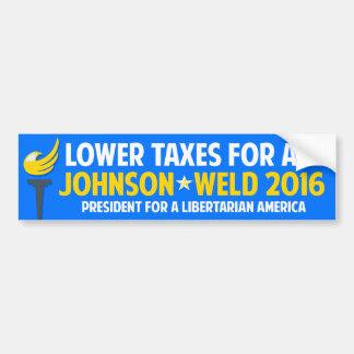 ギャリージョンソン2016の自由意志論者のビルの溶接税 バンパーステッカー