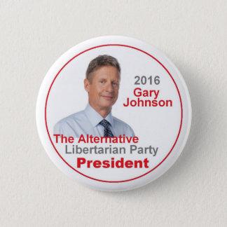 ギャリージョンソン2016ボタン 5.7CM 丸型バッジ