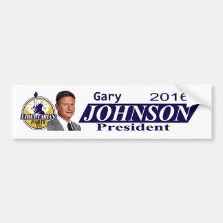 ギャリージョンソン2016年 バンパーステッカー