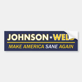 ギャリージョンソン/溶接健全なアメリカのバンパーステッカー バンパーステッカー