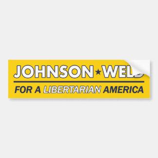 ギャリージョンソン/溶接自由主義的なバンパーステッカー バンパーステッカー