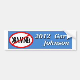 ギャリージョンソンOBAMNEY 2012のバンパーステッカー無し バンパーステッカー