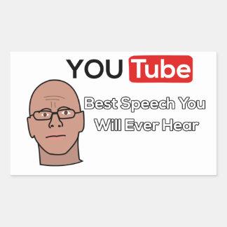 ギャリーYourofskyのスピーチのステッカー 長方形シール